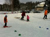 beginers ski lesson with Roxana ski instructor